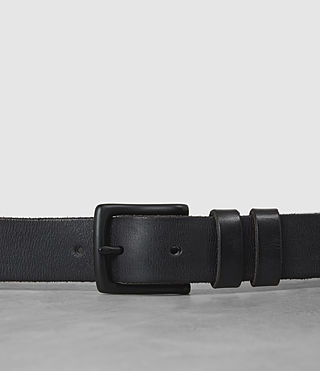 Mens Slim Annex Leather Belt (MOUNTAIN GREY) - product_image_alt_text_2