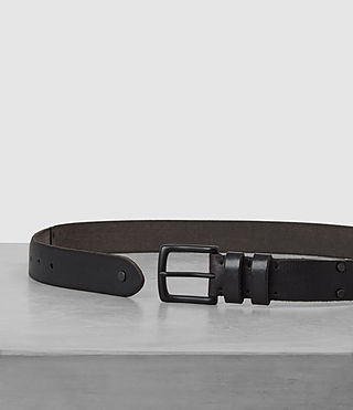 Mens Slim Annex Leather Belt (MOUNTAIN GREY) - product_image_alt_text_3