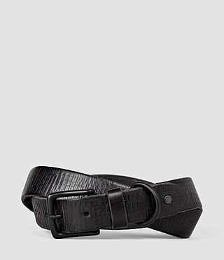 Hombres Hatch Slim Belt (Washed Black)