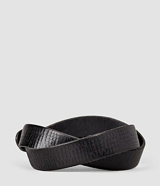Mens Hatch Slim Belt (Washed Black) - product_image_alt_text_2