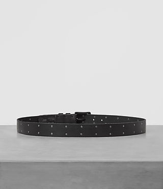 Herren Troop Slim Leather Belt (Jet Black) - product_image_alt_text_4
