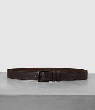 Hombres Slim Breach Leather Belt (Bitter Brown)