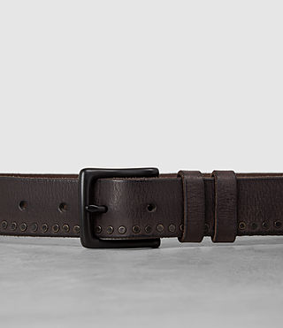 Men's Slim Breach Leather Belt (Bitter Brown) - product_image_alt_text_2