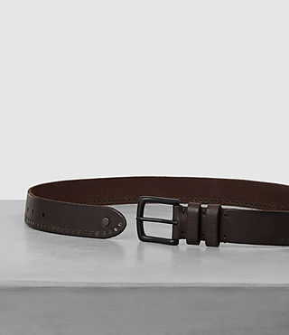 Men's Slim Breach Leather Belt (Bitter Brown) - product_image_alt_text_3