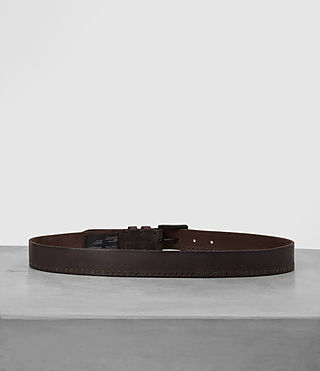 Men's Slim Breach Leather Belt (Bitter Brown) - product_image_alt_text_4