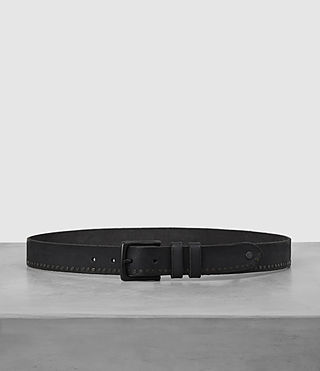 Mens Slim Breach Leather Belt (ANTHRACITE GREY)
