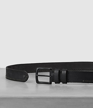 Hombre Slim Breach Leather Belt (ANTHRACITE GREY) - Image 3