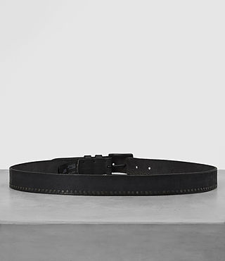 Hombre Slim Breach Leather Belt (ANTHRACITE GREY) - Image 4