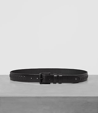 Hombre Ruck Slim Leather Belt (Jet Black) - product_image_alt_text_1