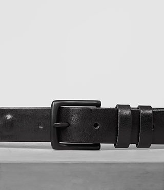 Hombre Ruck Slim Leather Belt (Jet Black) - product_image_alt_text_2