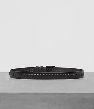 Men's Ruck Slim Leather Belt (Jet Black) - product_image_alt_text_3