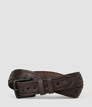 Hommes Croft Slim Belt (Bitter Brown)