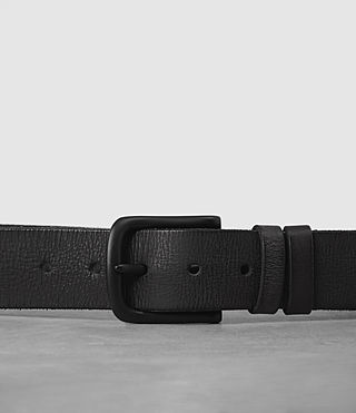 Mens Weave Leather Belt (Black) - product_image_alt_text_2