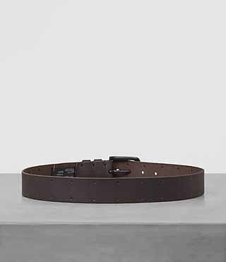 Mens Fort Leather Belt (Bitter Brown) - product_image_alt_text_4