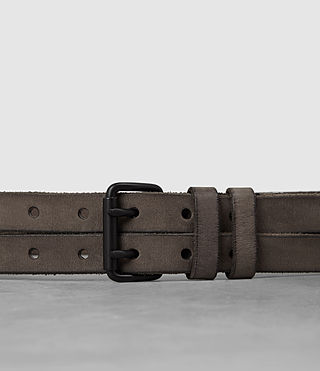Men's Twin Leather Belt (LIGHT TAUPE) - product_image_alt_text_2