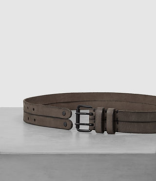 Hombres Twin Leather Belt (LIGHT TAUPE) - product_image_alt_text_3
