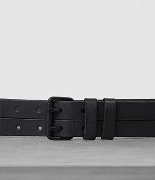 Hombres Twin Leather Belt (ANTHRACITE GREY) - product_image_alt_text_2
