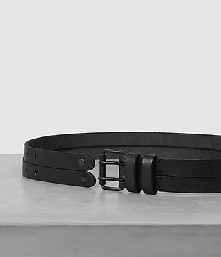 Uomo Twin Leather Belt (ANTHRACITE GREY) - product_image_alt_text_3