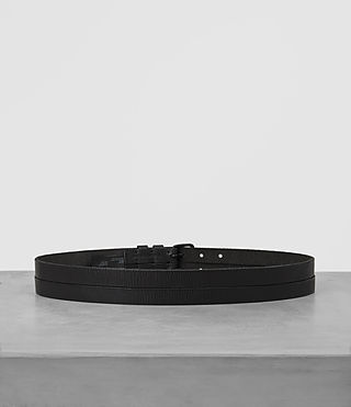 Uomo Twin Leather Belt (ANTHRACITE GREY) - product_image_alt_text_4