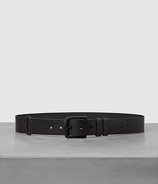Hombres Split Leather Belt (Black) -