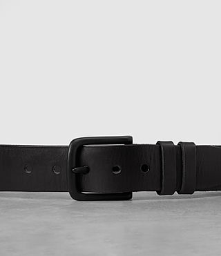 Hombres Split Leather Belt (Black) - product_image_alt_text_2