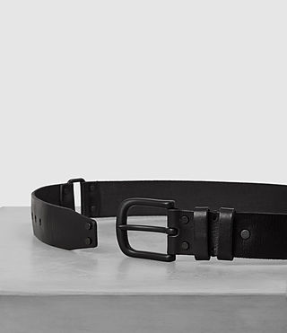 Hombre Split Leather Belt (Black) - product_image_alt_text_3