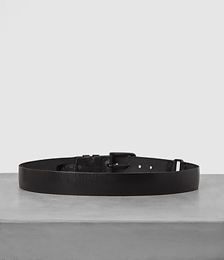 Hombres Split Leather Belt (Black) - product_image_alt_text_4