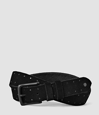 Hombres Trap Slim Belt (Black)