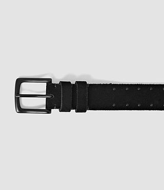 Men's Trap Slim Belt (Black) - product_image_alt_text_3