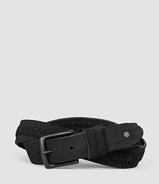Mens Arrow Slim Belt (Black) - product_image_alt_text_1
