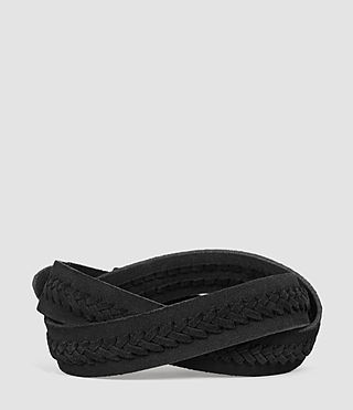 Men's Arrow Slim Belt (Black) - product_image_alt_text_2