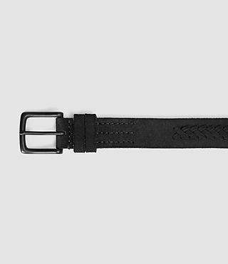 Mens Arrow Slim Belt (Black) - product_image_alt_text_3