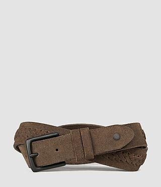 Mens Arrow Slim Belt (Taupe)