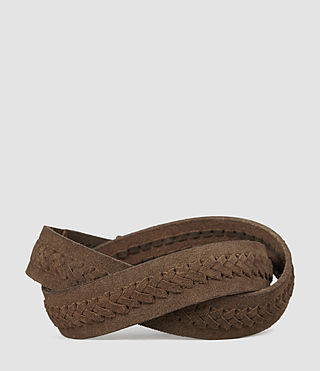 Hombres Arrow Slim Belt (Taupe) - product_image_alt_text_2