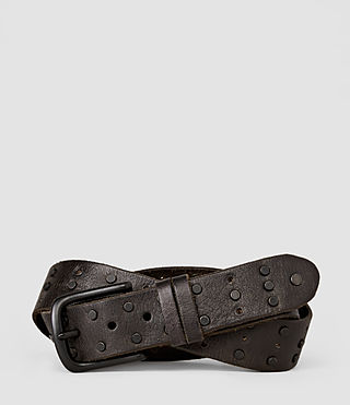 Uomo Delta Stud Belt (Bitter Brown) -