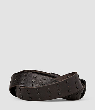 Uomo Delta Stud Belt (Bitter Brown) - product_image_alt_text_2