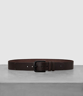 Hombres Wide Annex Leather Belt (Bitter Brown) -
