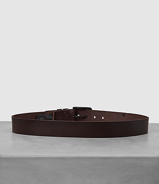 Mens Wide Annex Leather Belt (Bitter Brown) - Image 4