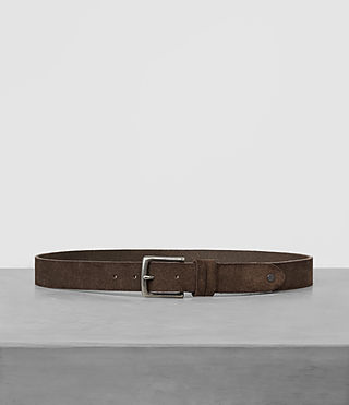 Mens Tract Slim Suede Belt (Dark Taupe) - product_image_alt_text_1