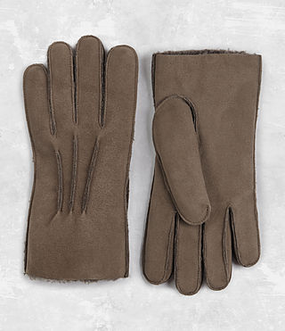 Hombres Bering Leather Gloves (Dark Taupe)