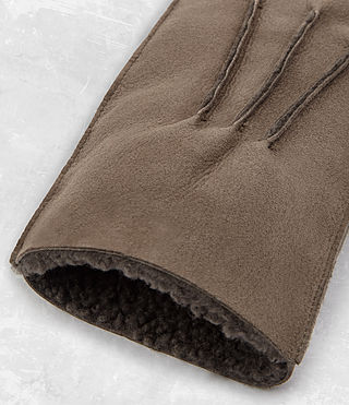 Hombres Bering Leather Gloves (Dark Taupe) - product_image_alt_text_2