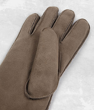 Hombres Bering Leather Gloves (Dark Taupe) - product_image_alt_text_3
