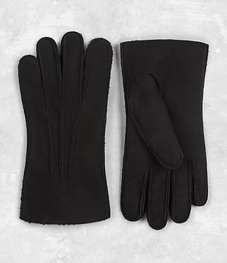 Mens Bering Leather Gloves (Black) - product_image_alt_text_1