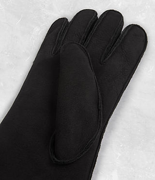 Uomo Bering Leather Gloves (Black) - product_image_alt_text_3