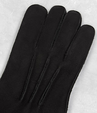 Mens Bering Leather Gloves (Black) - product_image_alt_text_4
