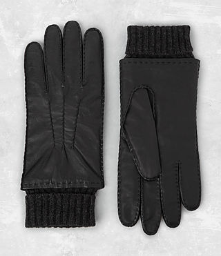 Hommes Denver Leather Gloves (Black)