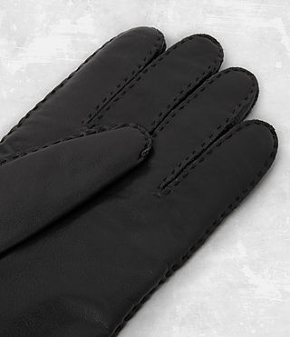 Hombres Denver Leather Gloves (Black) - product_image_alt_text_2