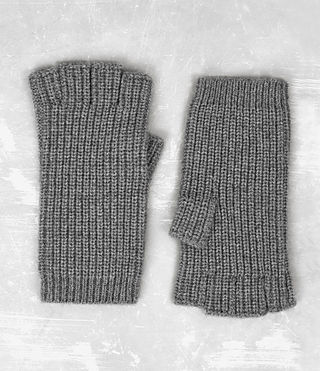 Hombres Tornn Knitted Gloves (Grey Marl) -