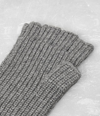 Uomo Tornn Knitted Gloves (Grey Marl) - product_image_alt_text_4