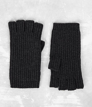 Hombres Tornn Knitted Gloves (Cinder Black Marl)